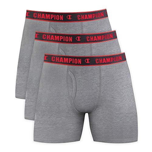 Kit 3 cuecas Cotton, Champion, Masculino, Mescla, M