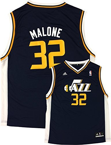 Jersey Utah (Karl Malone Utah Jazz #32 Navy Youth Away Replica Jersey (Small 8))