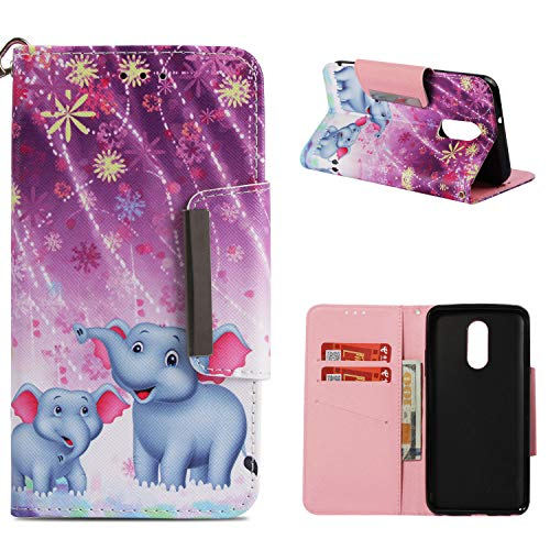 (LG Stylo 4 Case,LG Q Stylus Case LG Stylo 4 Plus,Stylus 4 Case,ZERMU Painted Pattern Premium PU Leather Magnetic Wallet Purse Case with Kickstand Card Holder ID Slot and Hand Strap Case for LG Stylo 4 )