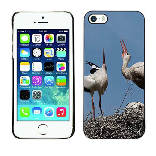 Premio Sottile Slim Cassa Custodia Case Cover Shell // F00018151 Famille de cigognes // Apple iPhone 5 5S 5G