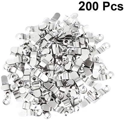 Heallily 200ピースフレーム画像ターンボタン額縁ハンギングタブレットフレームロック付き100ピース中空リベット用diy