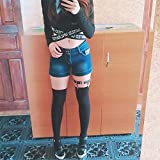 Jurxy 2PCS Gothic Studded Heart Garters Leg Ring