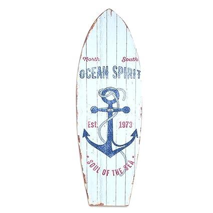 Rétro Cuadro decorativo de madera Tabla de Surf 60 cm – Modelo 1