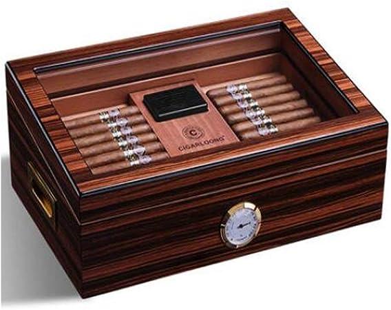 ZXL Caja de Puros, humidor Caja de Puros Caja de hidratación de Madera de Cedro Suave