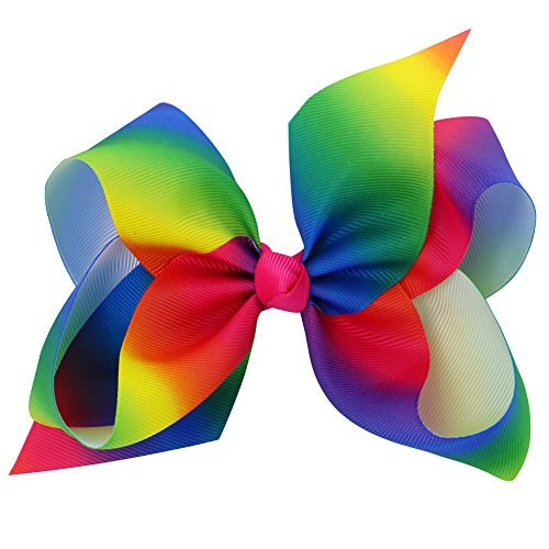 Bows For Girls Grosgrain Boutique Big Hair Bow Clips For Teens Toddlers Kids Children Set Of 15 by Babymatch (Image #2)