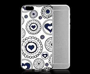 Light weight with strong PC plastic case for iphone 5c Art Love Heart Circles WANGJING JINDA