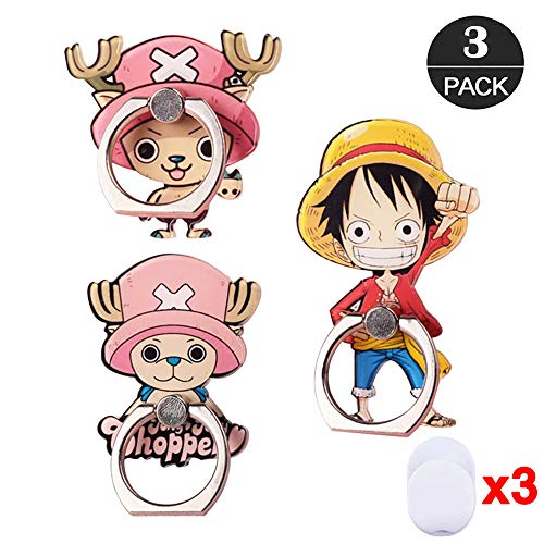 (ZOEAST(TM) 3pcs Phone Ring Grip One Piece Reindeer Tony Universal 360° Adjustable Holder Car Desk Hook Stand Stent Mount Kickstand Compatible with iPhone X Plus Samsung iPad Tablet (3 Pack)