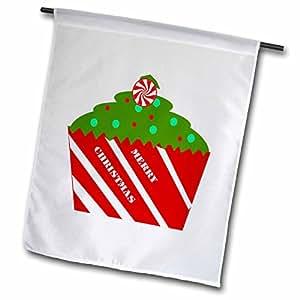 3dRose Florene Holiday Graphic–un especial de Navidad para cupcakes–banderas