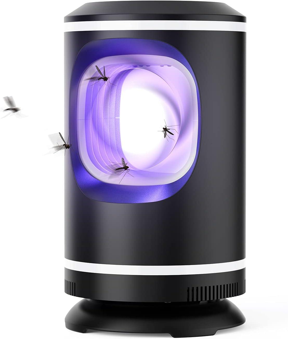 ZORNIK Lámpara Antimosquitos Eléctrico,UV LED Mosquito Lámpara Trampa,Adecuado para Cocina, Sala de Estar, Dormitorio,Jardín (Negro)