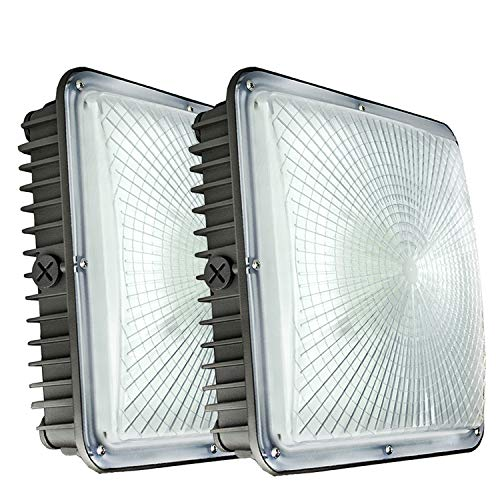 LED Canopy Lights,2 Pack of 45Watt,150-200W HID Bulb Replacement,9.5
