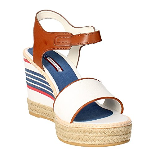 Sandalias con cuña Us Polo Assn Nymphea azul marino Blanco
