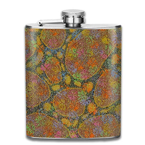 FTRGRAFE Bush Potato Gulya Bamjima Fashion Portable 304 Stainless Steel Leak-Proof Alcohol Whiskey Liquor Wine 7OZ Pot Hip Flask Travel Camping Flagon for Man Woman Flask Great Little Gift