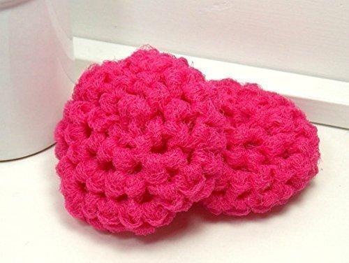 Amazon Hot Pink Reusable Dish Scrubbies Set Of 2 Handmade
