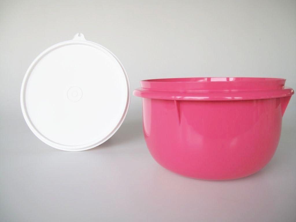 Tupper TUPPERWARE Peng Hefeteig Germteig Sch/üssel mit Deckel Maximilian 2,75 Liter pink wei/ß