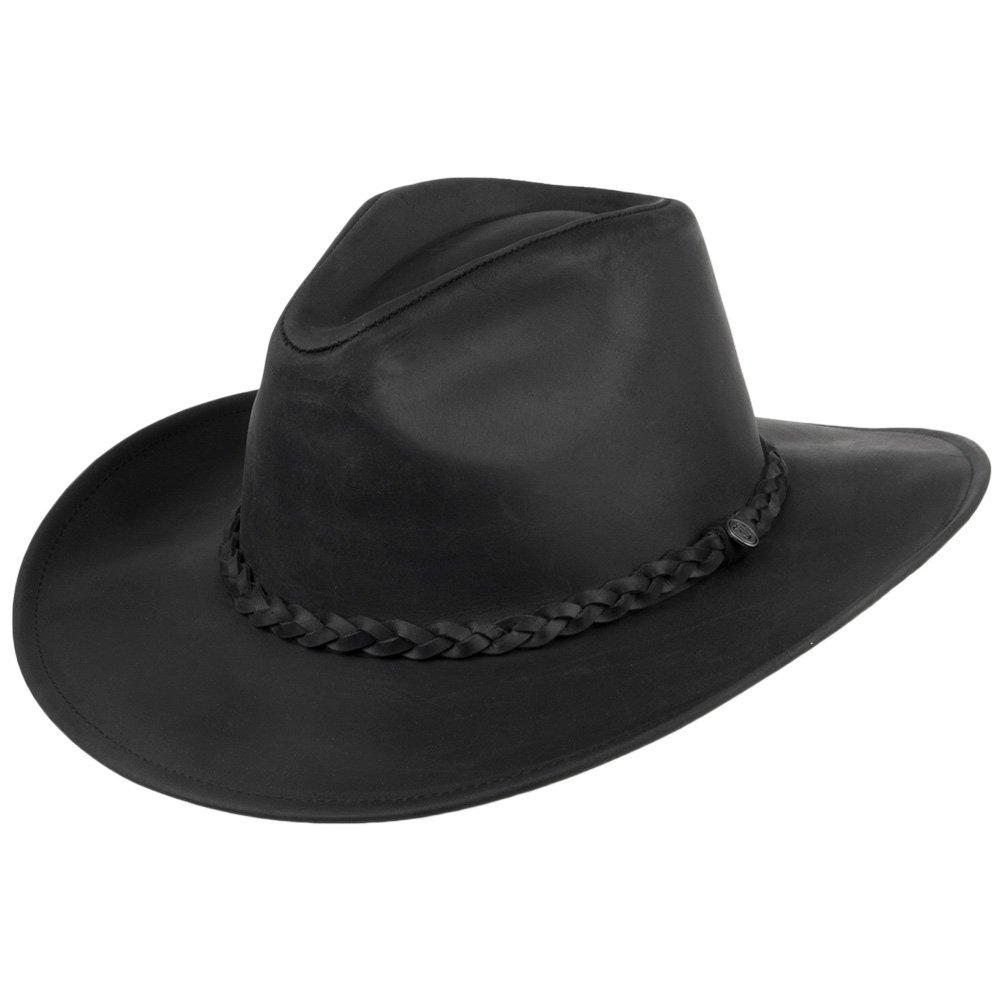 Jaxon /& James Buffalo Cowboyhut aus Leder Schwarz