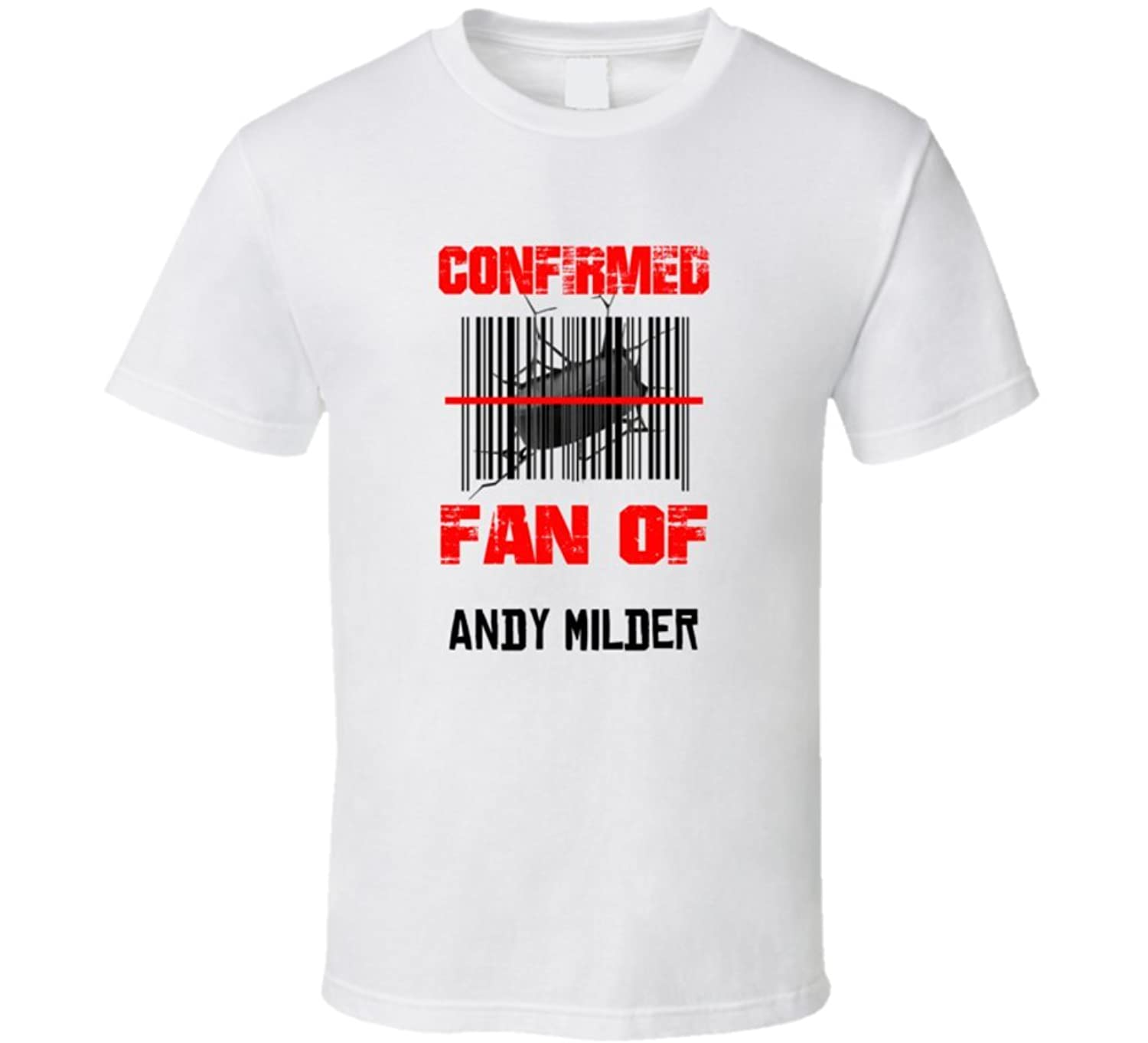 Andy Milder NHL Scanned Barcode Fan T shirt 2XL White