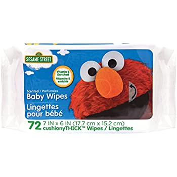 Amazon Com Sesame Street Scented Baby Wipes 72 Count