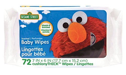 Sesame Street Scented Baby Wipes, 72 Count, White, Large