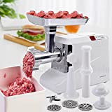 LA BOVA 2000 Watt Meat Grinder Electric 2.6 HP Industrial Meat Grinder 3 Speed w3 Blade