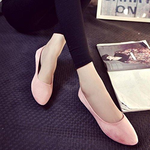 On scarpe amp; Flat rosa Ladies Sizes scarpe On Slip Colours Casual Various   f97f3a