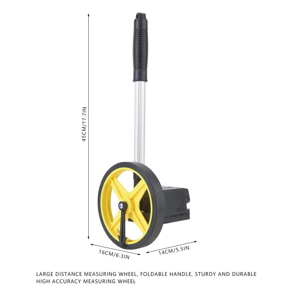 Rueda medidora de distancia digital de 0 a 9999,9 m con mango telesc/ópico