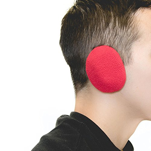Sprigs Earbags Bandless Ear Warmers/Fleece Earmuffs with Thinsulate - Red, Medium