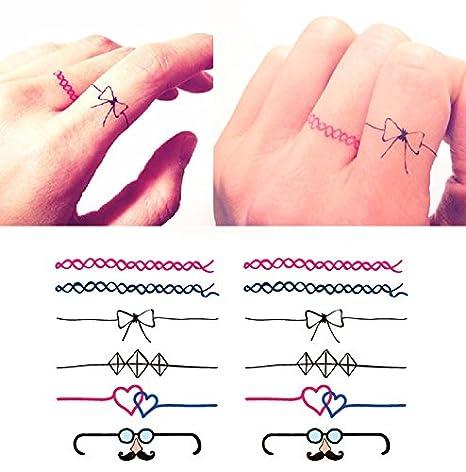 Temporäre Körperkunst Entfernbare Tattoo Aufkleber Ring HC1031 Sticker Tattoo Temporary Tattoo FashionLife