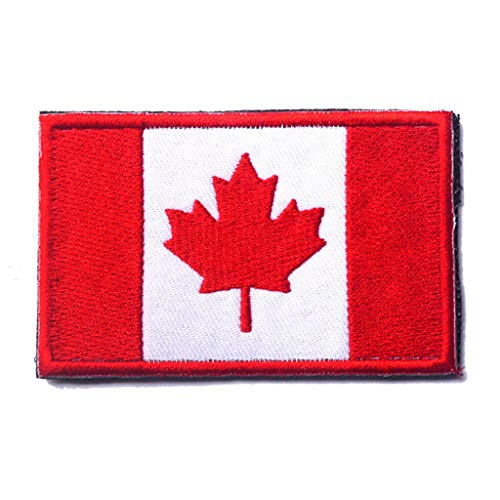 ShowPlus Canada CA Flag Patch Military Embroidered Tactical Patches Morale Shoulder Applique