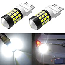 Alla Lighting 39-SMD 3157 3156 T25 High Power 2835 Chipsets Xtremely Super Bright 6000K White LED Lights Bulbs for Replacing Turn signal Blinker Brake Tail Back Up Reverse Side Marker Light Lamps
