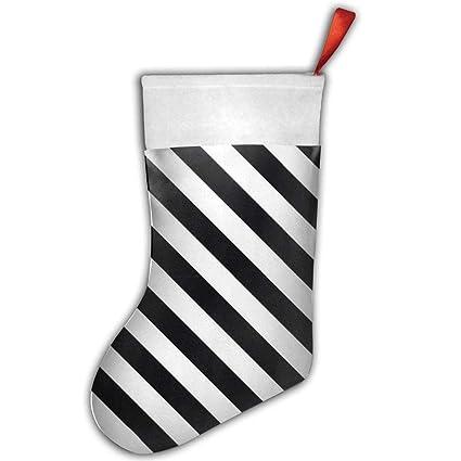 Black And White Christmas Stockings.Amazon Com Ygiqcz Black And White Stripes Christmas