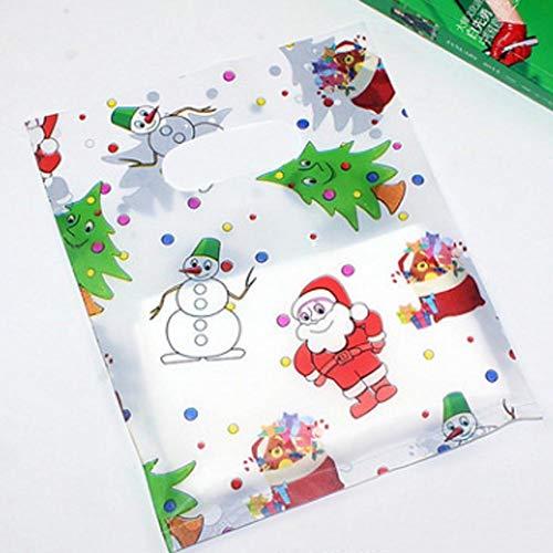 Bags Biscuits - 100pcs Bag Christmas Santa Claus Deer Snowman Self Adhesive Cookie Packaging Bags Decoration - Juicing Jigsaw Nursing Makeup Coat Curling Herbs Almond Utensils 2019 Tablet C ()