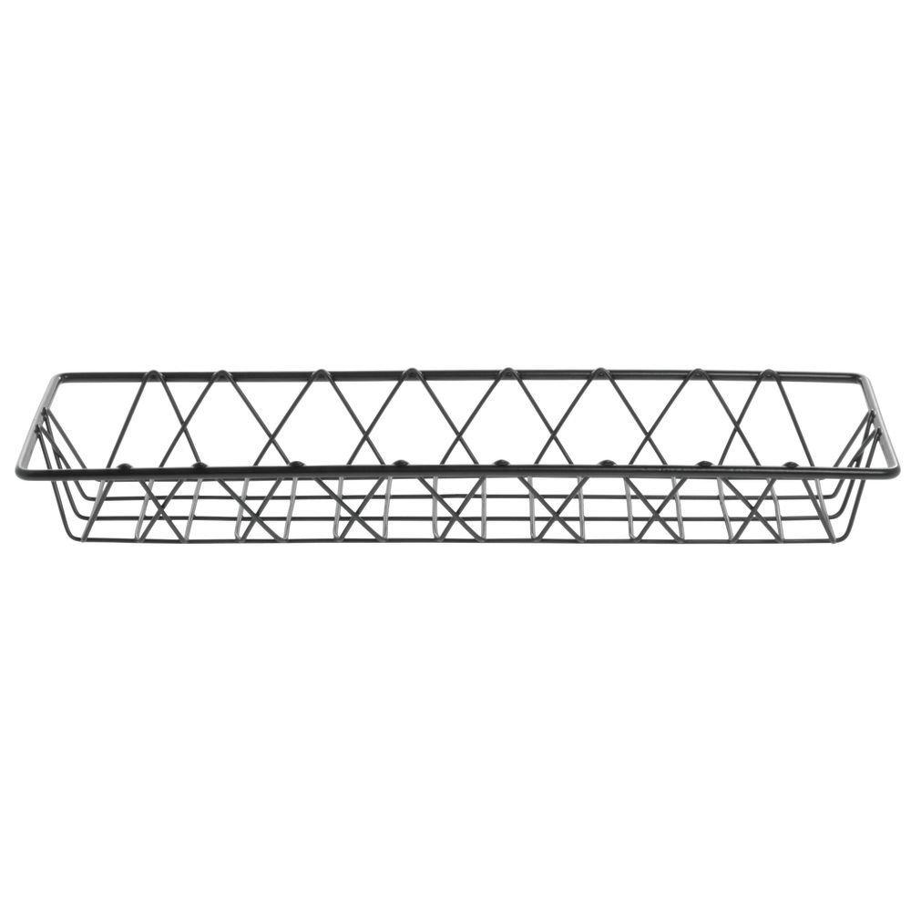 HUBERT Wire Basket Rectangular Nickel Powder-Coated Steel - 18