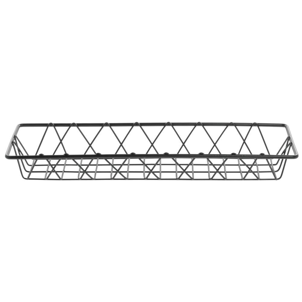 HUBERT Wire Display Basket Pastry Tray Bakery Basket Rectangular Nickel Powder-Coated Steel - 18''L x 6''W x 2''H