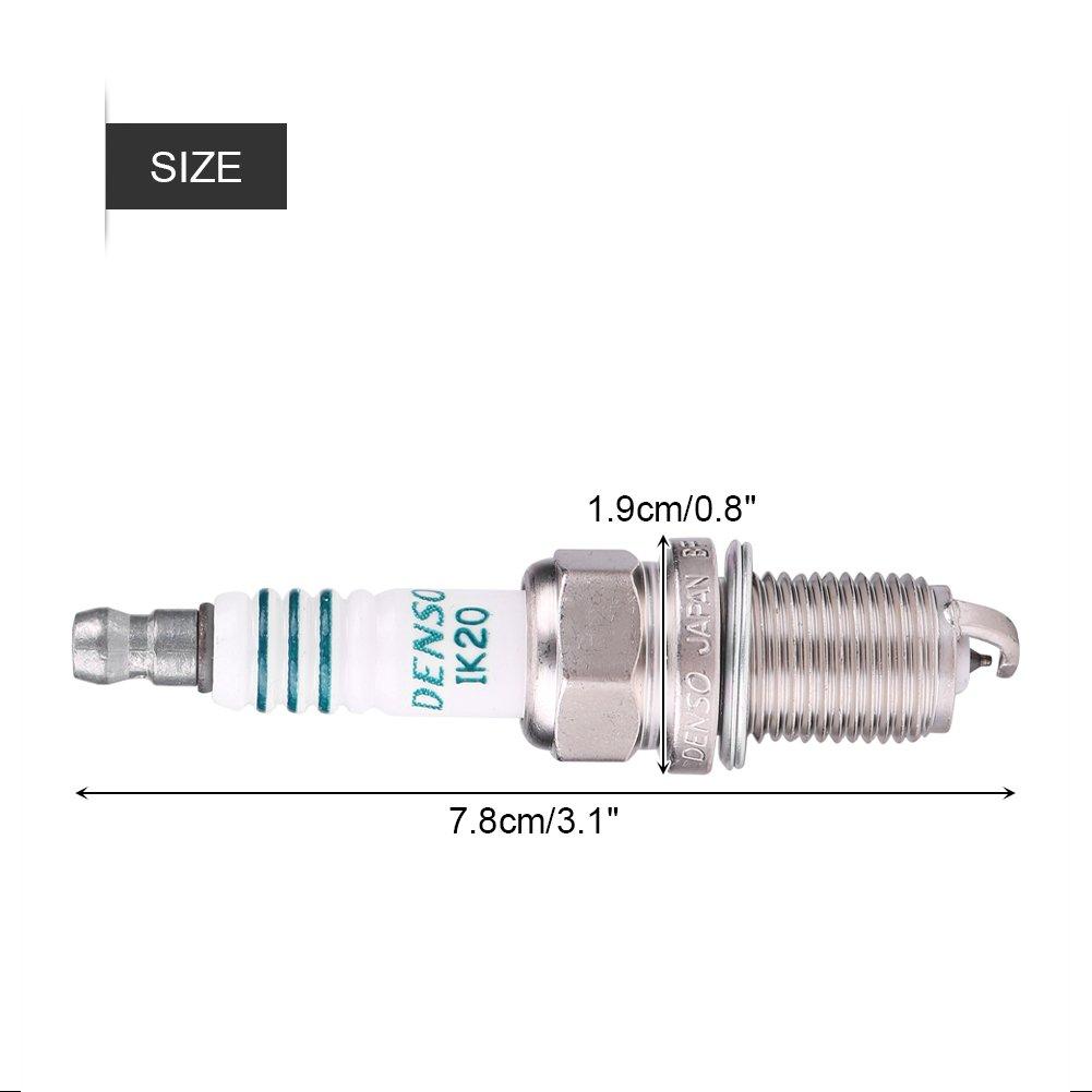 Keenso IK16 IK20 IK22 - Bujía para coche (aleación de platino, 1 unidad): Amazon.es: Coche y moto