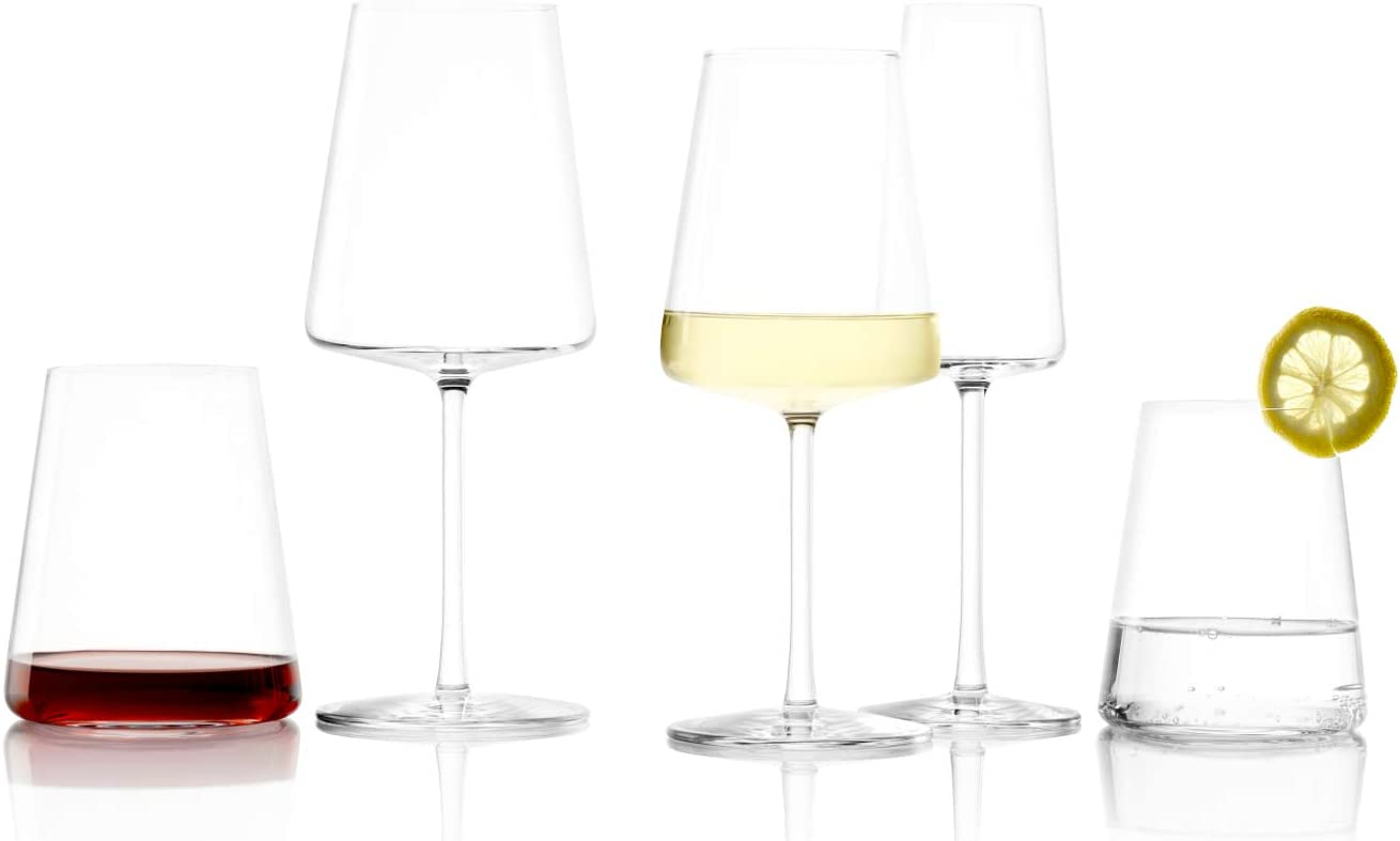 Amazon Com Stolzle Lausitz Power German Made Crystal Stemless Red Wine Glass Set Of 4 Kitchen Dining
