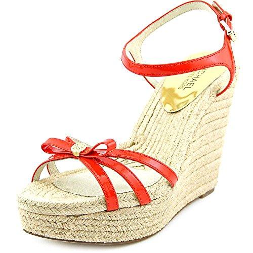 Michael Michael Kors Women's Josie Wedge Sandal (9.5 B (M) US, Mandarin) - Josie Platform Shoes