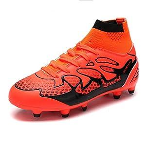 DREAM PAIRS Big Kid 160858-K Orange Black Fashion Soccer Football Cleats Shoes Size 6 M US Big Kid
