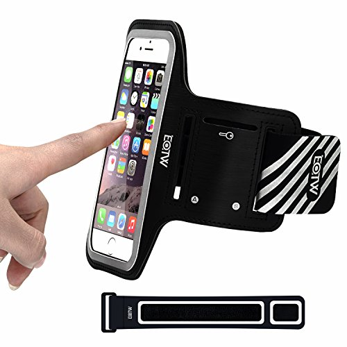 EOTW iPhone 6S 6 Plus Exercise Armband Holder Sports Cell Phone Arm Band Running Case For iPhone 6 6S Plus Samsung Galaxy S6 S5 S7 Edge, Note 5 4, LG G4 G5 Moto G4 Plus For Jogging Biking Workout Gym