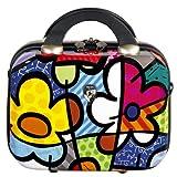 Heys USA Luggage Britto Flowers Hardside Beauty Case, Flowers, 9 Inch