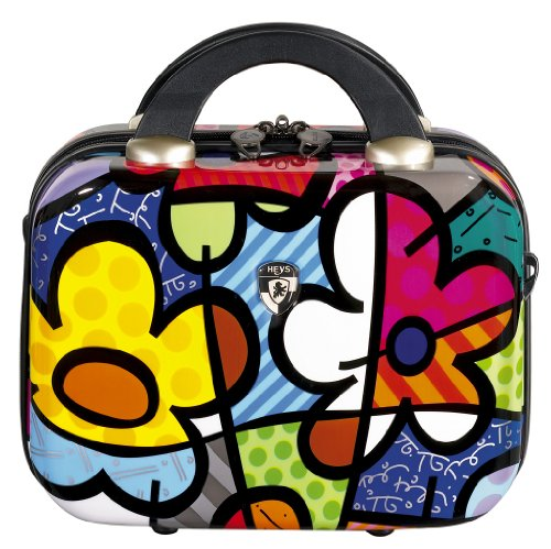 Heys USA Luggage Britto Flowers Hardside Beauty Case, Flowers, 9 Inch, Bags Central