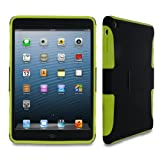 rooCASE eXTREME Hybrid (Black / Green) TPU Shell Case for Apple iPad Mini with Retina Display Tablet