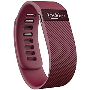 Fitbit Charge Wireless Activity Wristband, Burgundy, Large
