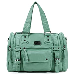 Scarleton Satchel Handbag for Women, Ultra Soft Washed Vegan Leather Crossbody Bag, Shoulder Bag, Tote Purse, H1485