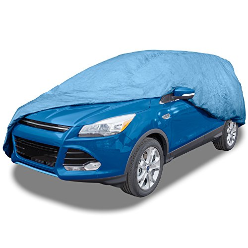 Best Budge Duro SUV Cover Fits Large SUVs up to 229 inches, UD-3 – (Polypropylene, Blue) (online)