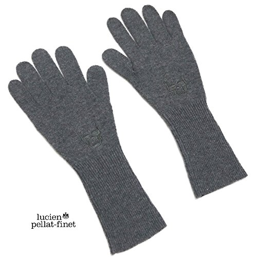 [ルシアンペラフィネ] lucien pellat-finet スカル刺繍 ニットグローブ(手袋) グレー レディース lucien pellat-finet  [並行輸入品]
