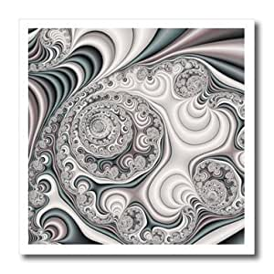 ht_116874_2 Dooni Designs Fractal Art - Pretty Pearl Satin Abstract Fractal Digital Art - Iron on Heat Transfers - 6x6 Iron on Heat Transfer for White Material