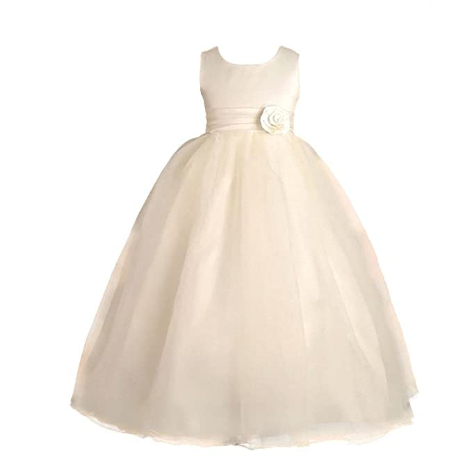 Lito Angels - Vestido - para niña Blanco Marfil 18 Meses