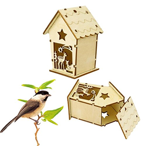 Eyelet Gorgeous (Home & Garden,Dartphew 1Pcs DIY Nest Dox - House Bird House Bird Box Wooden Box,Metal eyelet for hanging,Gorgeous Garden Accessory - Perfect addition to Home or Garden of your choice(11x8.5cm))