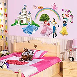 Cartoon Anime Children'S Room Princess Bedroom Bedside Wallpaper
