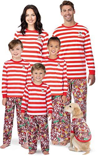 PajamaGram Where's Waldo Family Pajamas - Fun Pajamas for Family, Red, Kids, ()